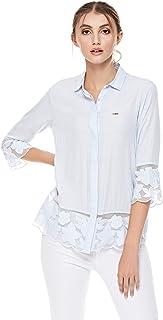 U.S. Polo Assn. Shirts For Women, Light Blue, Size 34 EU
