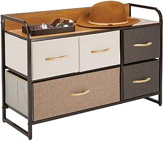mDesign commode à 5 tiroirs – large étagère à tiroirs pour la chambre, le salon, l'entrée, la salle de bain, etc. – rangem...