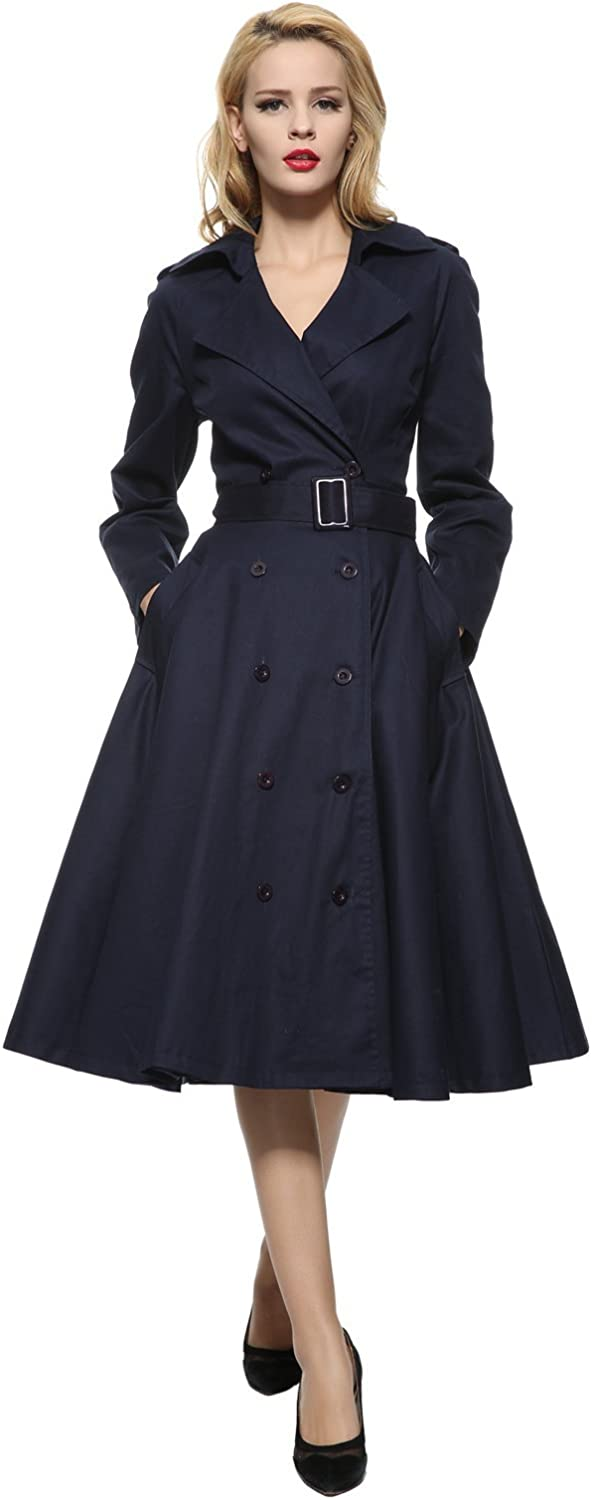 1950s Coats and Jackets History Maggie Tang Vintage Elegant Swing Coat Rockabilly Tunic Classical Party Dress  AT vintagedancer.com