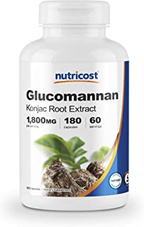 Nutricost Glucomannan 1,800mg Per Serving, 180 Capsules