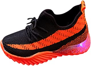 Sceoyche Kids LED Light Shoes, Baby Luminous Sport Shoes Breathable Lace-up Outdoor Shoes Non-slip Walking Shoes Infant Sn...