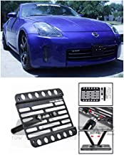 Extreme Online Store for 2005-2008 Nissan 350Z (Production After Feb 2004) | EOS Plate Version 1 Front Bumper Tow Hook License Plate Relocator Mount Bracket Tow-043 (Mid Size)