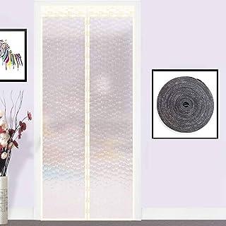 Magnético Térmicas Aislantes Cortina Mosquitera Magnética Para Puertas, Plástico Cortar Cortina De La Puerta Sala De Aire Acondicionado Cocina Corredera Cortina-90X230cm(35X91pulgada)-A