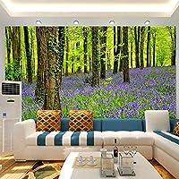 3D壁紙現代のシンプルな紫色のラベンダーの森の木の写真壁の壁画リビングルームのテレビソファの寝室の背景の壁の装飾-400x280cm
