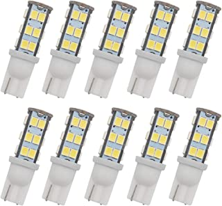 GRV T10 Wedge 192 921 194 25-2835 SMD LED Lights Bulbs 1.9W DC 12V Super Bright Dome Interior Car Lights Cool White Pack of 10