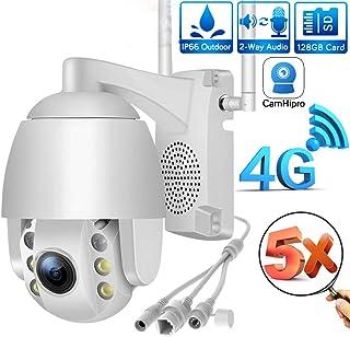 Cámara domo PTZWiFi para exteriorescámara de vigilancia CCTVIP 1080Pzoom óptico 5x/IP65 resistente a la intemperie/audio bidireccional/visión nocturna/detección de movimientocompatible con ONVIF2.4
