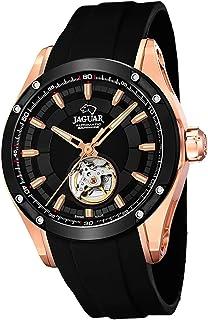 JAGUAR - Reloj Modelo J814/1 de la colección AUTOMATICO, Caja de 45 mm Correa de Caucho Negro para Caballero