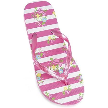 Womens/Ladies Ditsy Floral Print Flip Flops