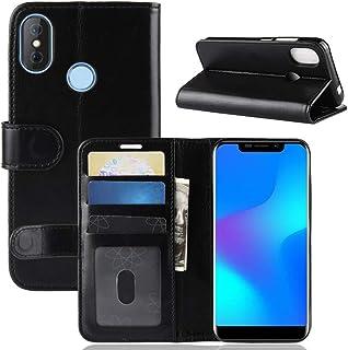 Doogee X70 財布 シェル, LoveBee [ スタイル ] プレミアム Doogee X70 カード シェルs 立つ フィーチャー の Doogee X70 [Black ]Leather iphone Cases フリップ カバー 〜と Leather iphone Cases