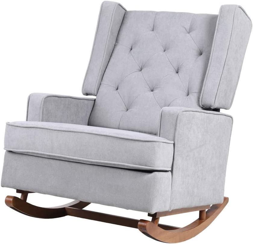 Fabric Rocking Chair Nursery Armchair Denver Mall excellence Two Types with of