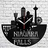 Mutmi Nicaragua Reloj de Pared de Vinilo Falls Vinilo Grabac