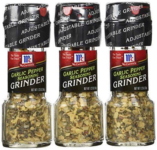 McCormick Garlic Pepper Seasoning Grinder, 1.23 OZ(3pack)