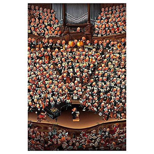 300/500/1000/1500 Piezas Rompecabezas, Grandes Rompecabezas de Madera, Rompecabezas del Paisaje, Juego de niños Adolescentes intelectivo de DIY Juego de Orquesta (Size : 1500pieces)