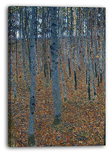Printed Paintings Stampa su Tela (80x60cm): Gustav Klimt - Libro Foresta I (1902)
