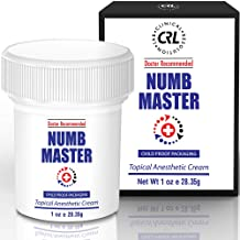 Numb Master 5% Lidocaine Topical Numbing Cream for Pain Relief, 1oz Max Strength Fast Acting Non Oily Local Anesthetic, Made in USA