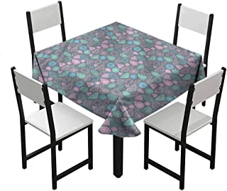 Flyerer Diamonds Wedding Table clothesStain Resistant and Spillproof Suitable for banquets, Parties Boho Pastel Colored Forms Gifts Teen Boys W36 xL36