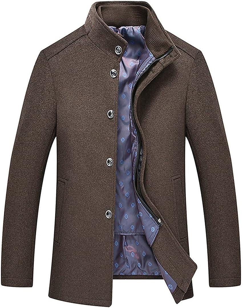 Men Wool Coats Business Overcoats Stylish Casaco Masculino Coat Turn Collar Coat