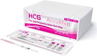 AccuMed Pregnancy Test Strips, 25-Count Individually Wrapped Pregnancy Strips, Early Home Detection Pregnancy Test Kit, Cl...
