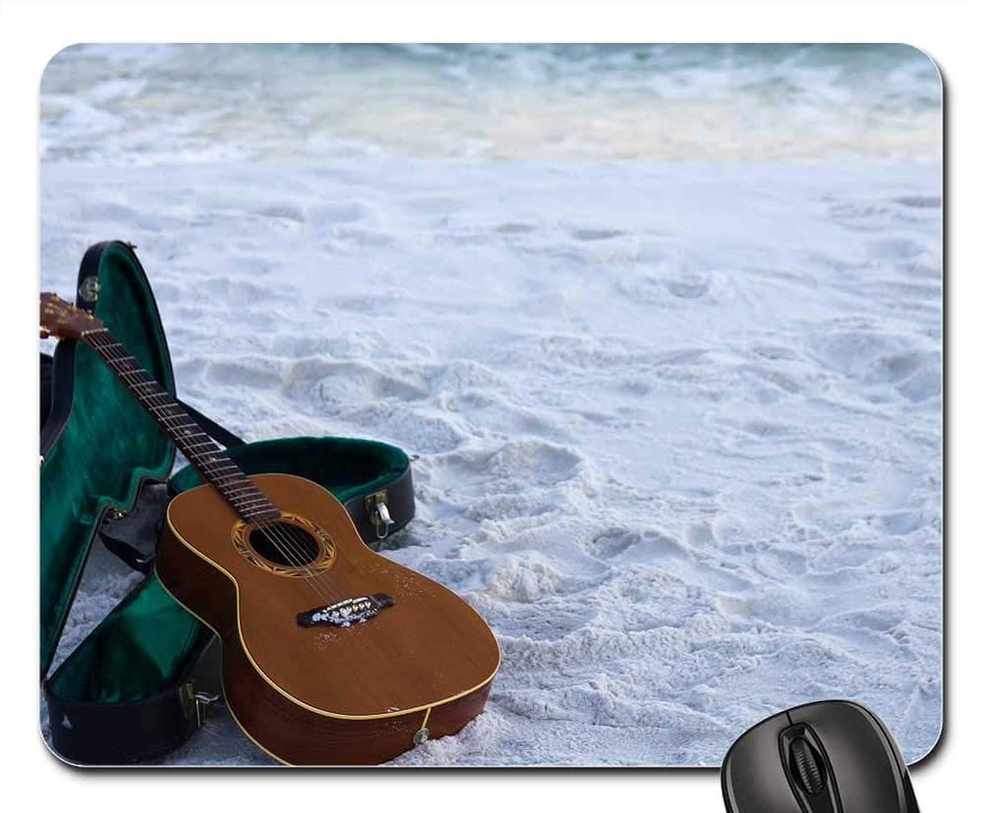 Mouse Pads - Guitar Sand Instrument Acoustic Travel Ocean