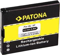 PATONA Batería BL-5F para Nokia 6210 Navigator 6210S 6710 Navigator 6290 E65 N93i N95 N96 X5-00