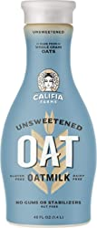 Califia Farms Unsweetened Oatmilk, 48 Oz | Whole Rolled Oats | Dairy Free | Whole30 | Keto | Vegan |
