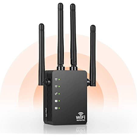 Amazon Com Wifi Extender 1200mbps Wifi Signal Booster Wifi Repeater With Wps Wide Range Stable Strong Signal Black Computers Accessories