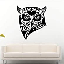 Tribal Owl Bird Fowl Head Diy Removable Quote Vinyl Wall Stickers Poster For Kids Nursery Bedroom Decoration Living Room Dorm Mural Pvc 57X71Cm