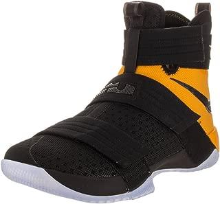 NIKE Men's Lebron Soldier 10 SFG Black/Black University Gold Basketball Shoe 10 Men US