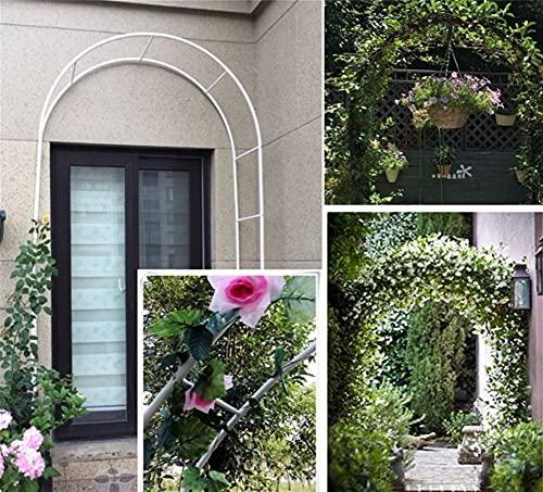 ETNLT-FCZ Arche Mariage,Arche De Jardin pour Plantes Grimpantes pour Plantes Grimpantes Jardin Métal Arche Jardin Extérieur (Color : White, Size : 140x230cm)