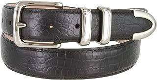 Genuine Italian Calfskin Embossed Leather Casual Dress Belt 1-1/4