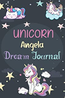 Unicorn Angela Dream Journal: A Journal for Kids: 100 Page Children's Dream Diary to Doodle, Sketch, and Write - Unicorn