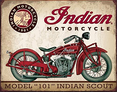 uwuzihuisho Indian Scout Motorrad Classic Metall Nummernschilder Vintage Bar Cafe Retro Blech Schilder Garage Metall Deko Plates #1