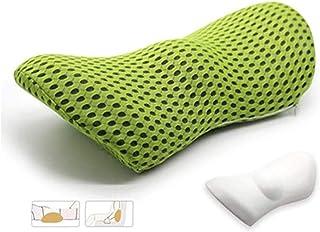 Almohada lumbar, almohada lumbar ortopédica para columna lumbar, soporte para dormir, almohada de espuma viscoelástica, almohada para cama, soporte lumbar, almohada