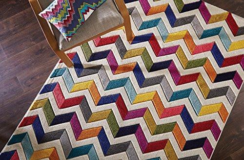 Flair Rugs Spectrum - Alfombra/Tapete con diseño Moderno y Abstracto - Multicolor Bolero 120 x 170cm