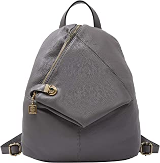 Genuine Leather Backpack for Women Fashion Ladies Purse Anti Theft Bag Grey
