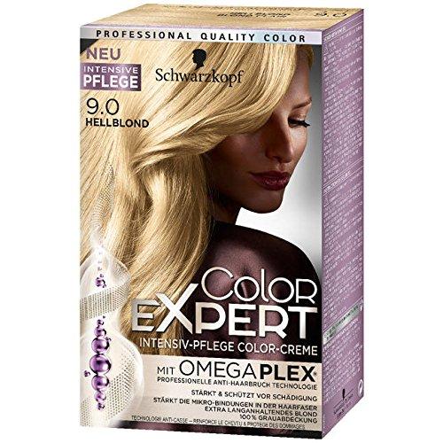 Color Expert Intensiv-Pflege Color-Creme 9.0 hellblond, 3er Pack (3 x 167 ml)