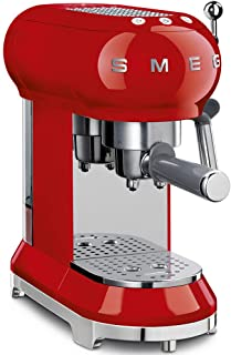 Smeg ECF01RDUK Espressco Coffee Machine, Red