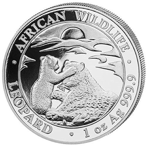 Somalia Leopard 1 Unze Silbermünze 2019