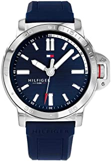 Tommy Hilfiger Diver Men's Blue Dial Silicone Band Watch - 1791588