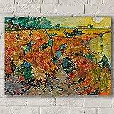 FGVB Viñedos Rojos en Arles (1888) Vincent Van Gogh Muebles Arte de la Pared decoración de la Sala d...