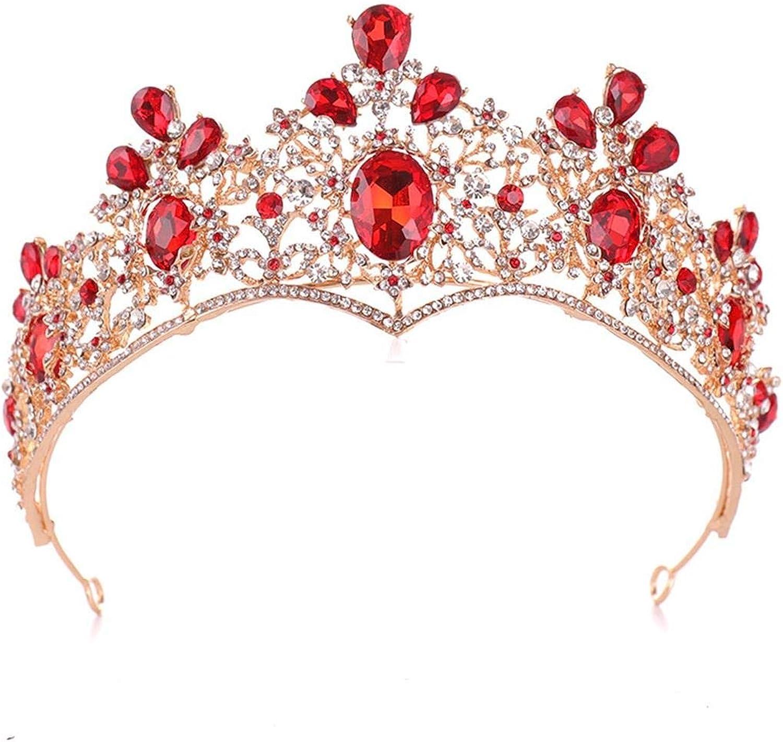 MATCHANT Crown Baroque Rhinestone Crown Bride Crown Headwear Wedding Dress Accessories (color   Style 01)