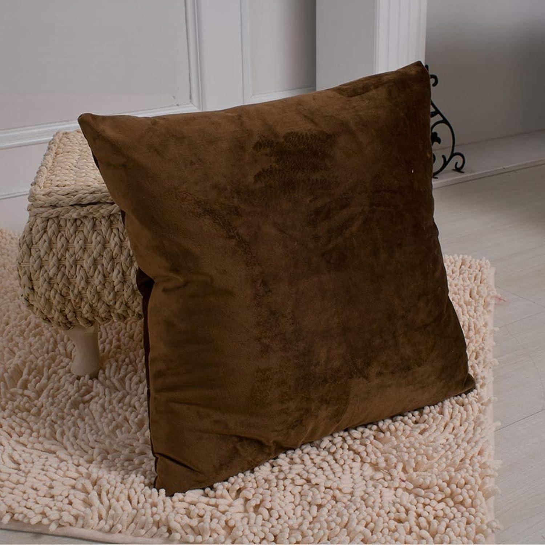 KjinZ Oreiller voitureré, coton confortable coussin oreiller lavable doux ménage oreiller canapé Coussin taille de la chambre Confortable (Couleur   C, taille   55  55cm)