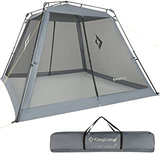 KingCamp Screen House, Instant UPF 50+ Sun Shelter with Mesh Side Walls, 10 x 10 ft Extra Large Portable Waterproof Roomy Net Tent for Camping Hiking Outdoor Sports (Carry Bag Included)