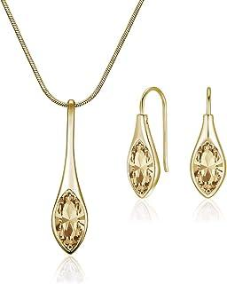 MESTIGE Women's Golden Shadow Amelie with Swarovski Crystals Jewelry Set - MSSE3239