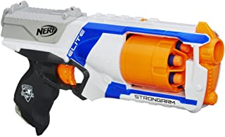 Nerf N Strike Elite Strongarm Toy Blaster With Rotating Barrel, Slam Fire, And 6 Official Nerf Elite Darts For Kids, Teen...