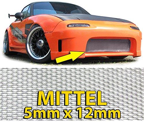 Carparts-Online 26431 Alu Gitter Renngitter Wabengitter Racegitter Alu 150X30cm silber Mittel