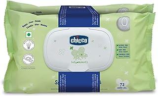 Chicco Baby Moments Wipes Fliptop Bi-Pack(72X2)144 Pcs