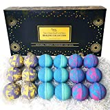 Aromatherapy Bath Bombs Set for Women & Men! Healing Essential Oil Bath Bombs Gift Box with 18 Large Natural Moisturizing Bath Bombs. Bulk Wrapped Bath Bombs Gift Set for Dry Skin