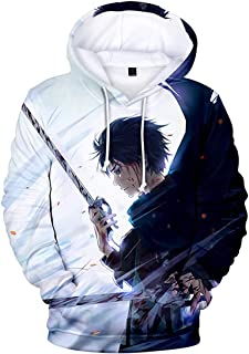 EMLAI Men's Attack on Titan 3D Print Hoodie Anime Cosplay Long Sleeve Jumper Pullover Sweater Unisex