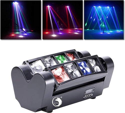 UKing Disco Lumière d'araignée,jeux de lumiere pour soiree 8x10W LED RGBW Du son et DMX512 Controller,pour Club Bar K...